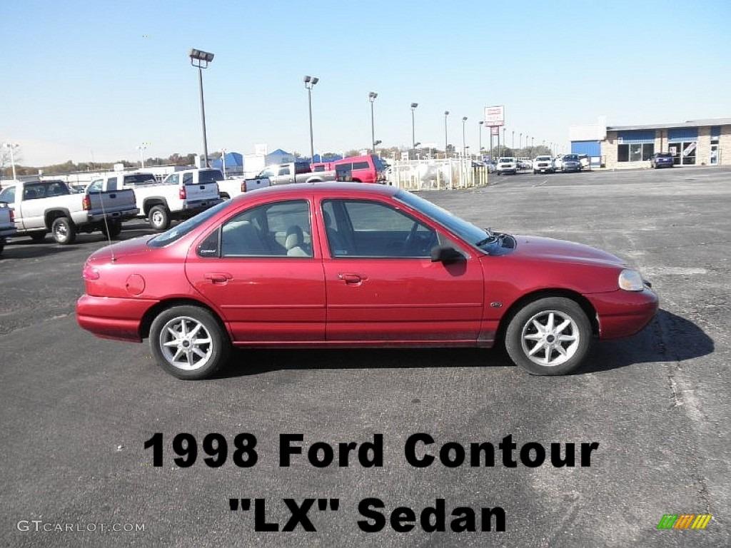 1998 cabernet red metallic ford contour lx 55537650 photo. Black Bedroom Furniture Sets. Home Design Ideas