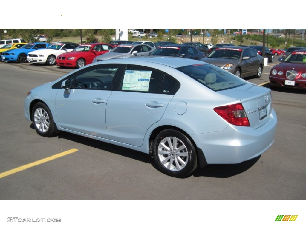 Cool mist metallic 2012 honda civic ex sedan exterior for Cool honda civic