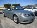 Glass Gray Metallic 2009 Saab 9-3 2.0T Convertible