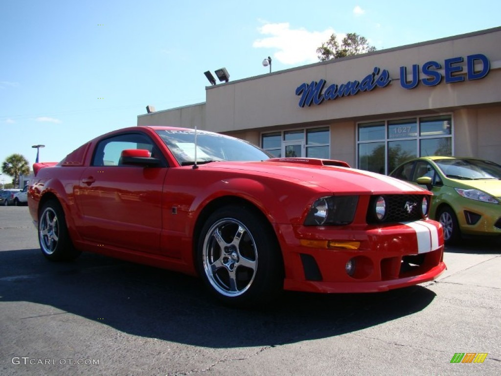 2006 torch red ford mustang roush stage 1 coupe 55537247. Black Bedroom Furniture Sets. Home Design Ideas