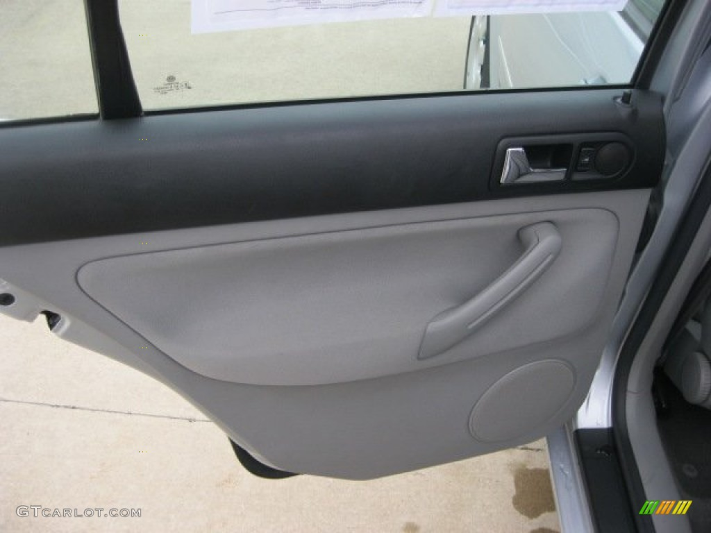 2004 Volkswagen Jetta Gl Sedan Grey Door Panel Photo 55579248