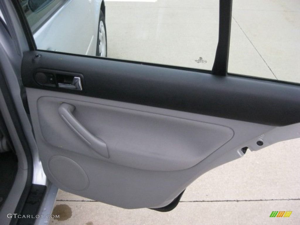 2004 Volkswagen Jetta Gl Sedan Grey Door Panel Photo 55579269