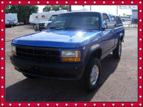 on 1996 Dodge Dakota Extended Cab Blue