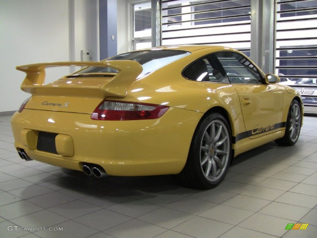 speed yellow 2006 porsche 911 carrera s coupe exterior. Black Bedroom Furniture Sets. Home Design Ideas