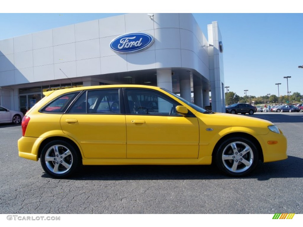 vivid yellow 2003 mazda protege 5 wagon exterior photo. Black Bedroom Furniture Sets. Home Design Ideas