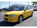Vivid Yellow - Protege 5 Wagon Photo No. 6