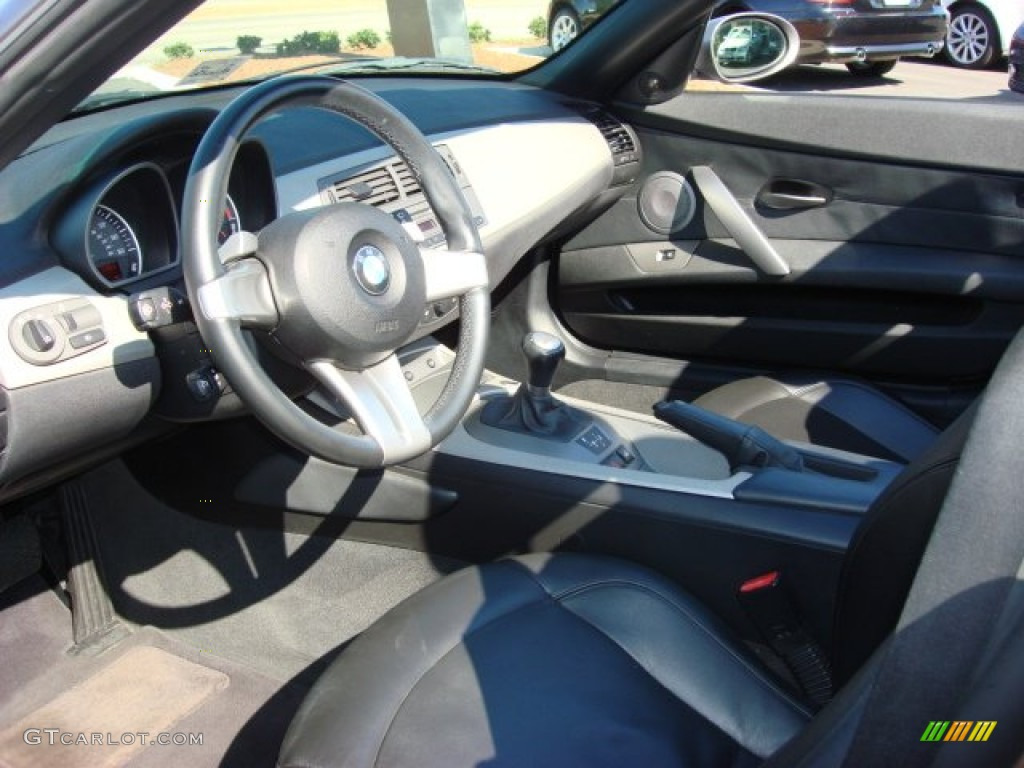 Black Interior 2003 Bmw Z4 3 0i Roadster Photo 55600180