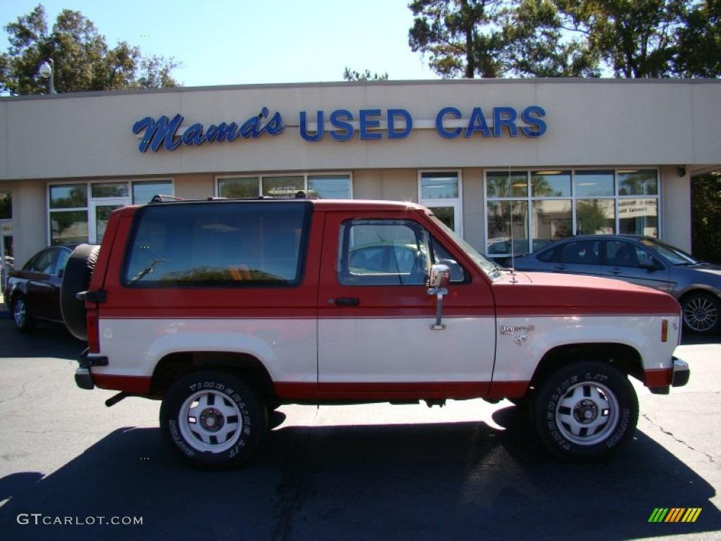 1986 Medium Dark Fire Red Ford Bronco Ii Xlt 4x4 55593027