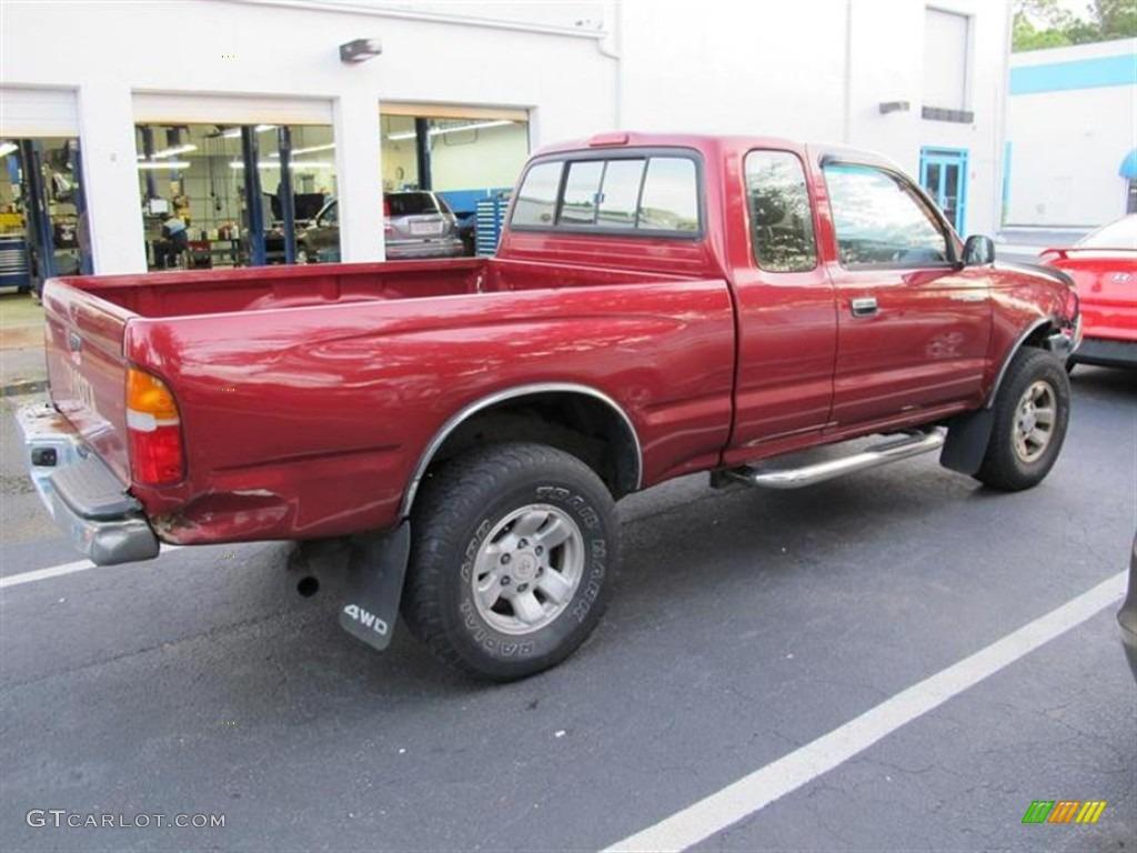1997 sunfire red pearl metallic toyota tacoma extended cab - 1997 toyota tacoma interior parts ...