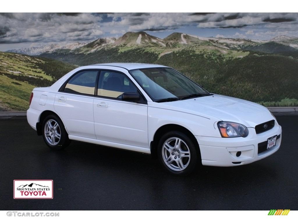 2005 aspen white subaru impreza 2.5 rs sedan #55592860 | gtcarlot