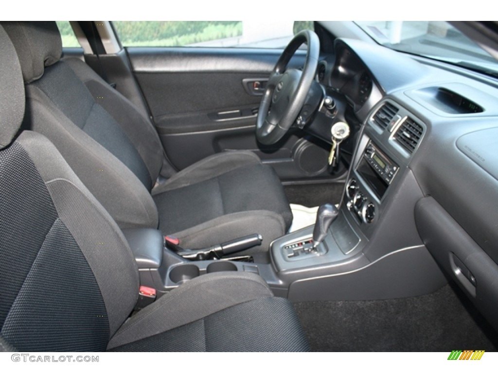 black interior 2005 subaru impreza 2 5 rs sedan photo. Black Bedroom Furniture Sets. Home Design Ideas