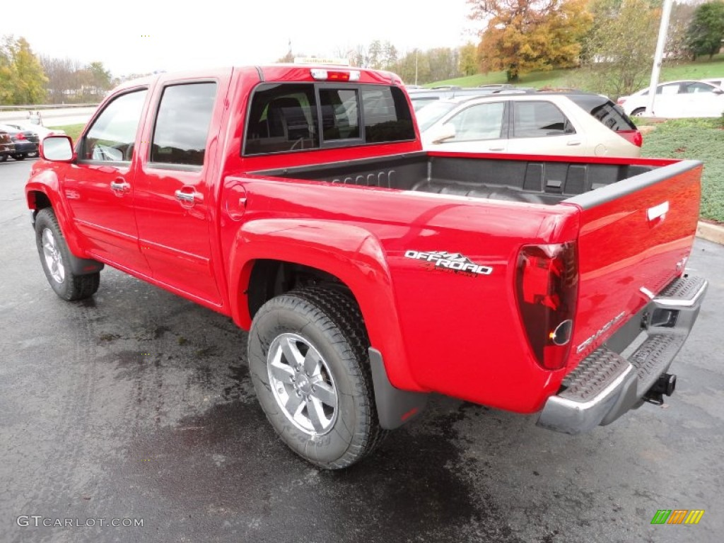 fire red 2012 gmc canyon sle crew cab 4x4 exterior photo 55616197. Black Bedroom Furniture Sets. Home Design Ideas