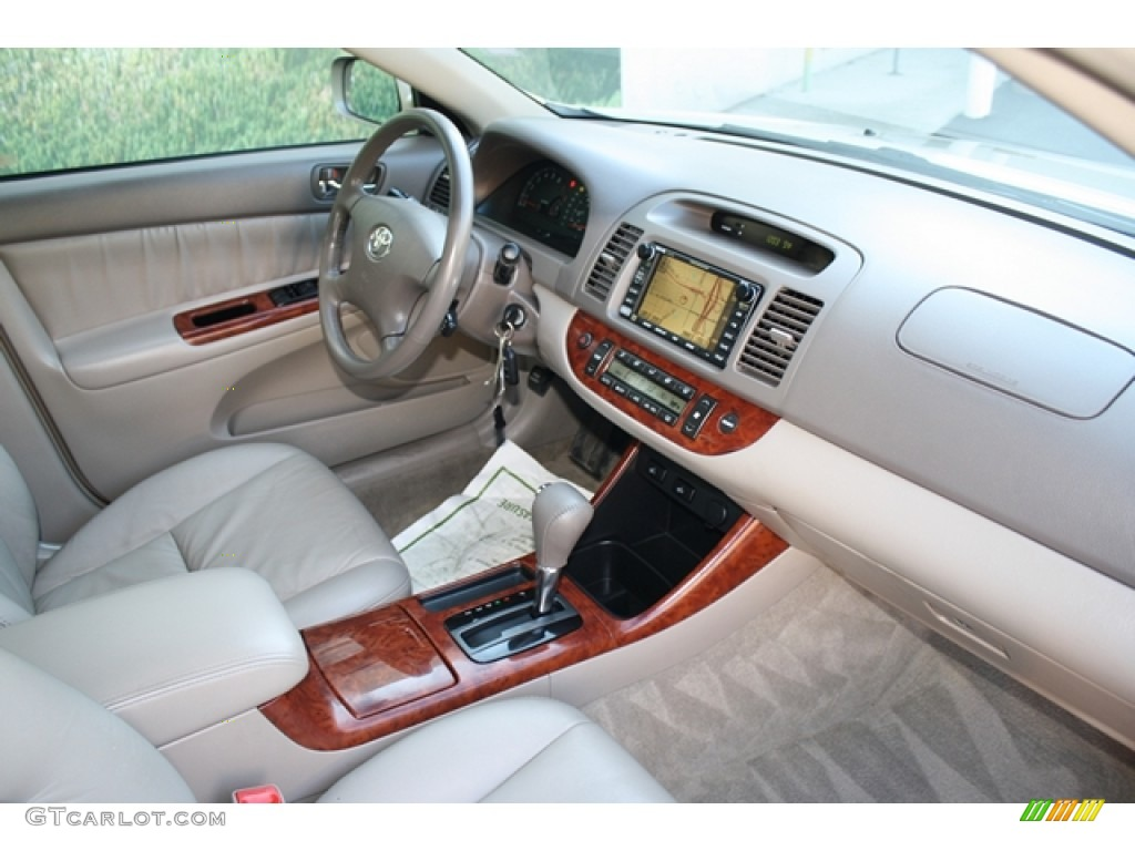 2003 Toyota Camry XLE V6 Taupe Dashboard Photo #55620744