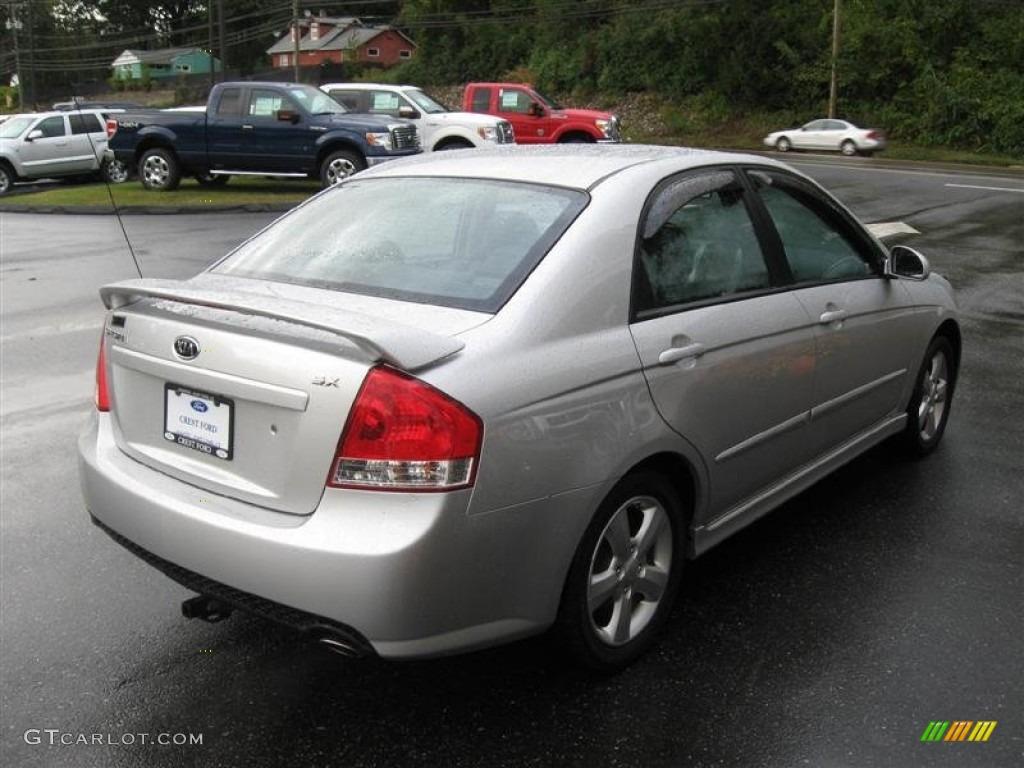 Silver 2008 kia spectra sx sedan exterior photo 55622948