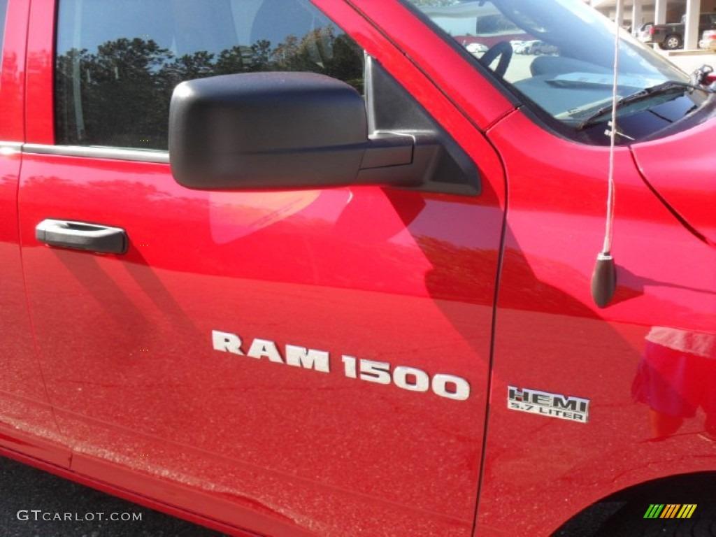 2012 Ram 1500 Express Quad Cab - Flame Red / Dark Slate Gray/Medium Graystone photo #21