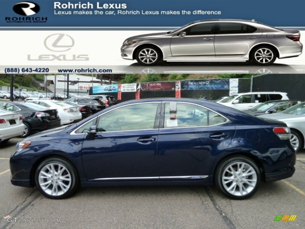 Deep Sea Blue Mica Lexus Hs 250h Hybrid Premium