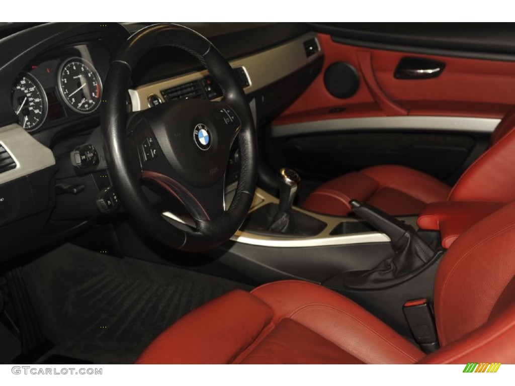 coral red black interior 2007 bmw 3 series 335i coupe photo 55660021