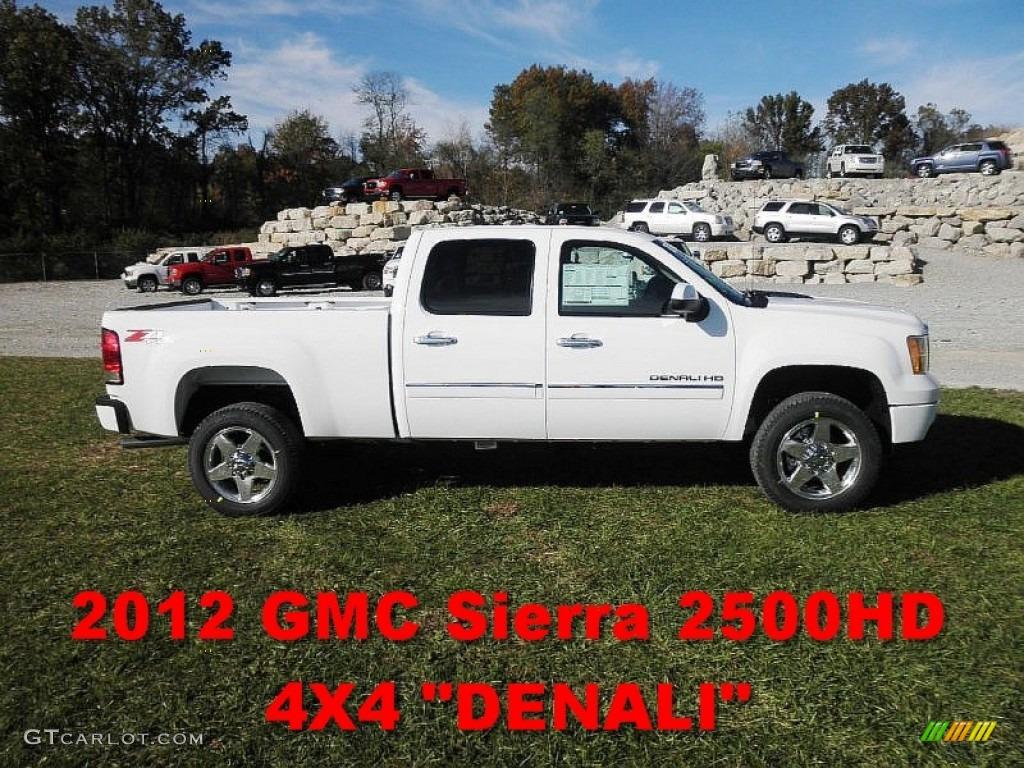 2012 summit white gmc sierra 2500hd denali crew cab 4x4 55658544 car color. Black Bedroom Furniture Sets. Home Design Ideas