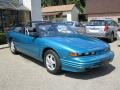 Bright Aqua Blue Metallic 1993 Oldsmobile Cutlass Supreme Convertible