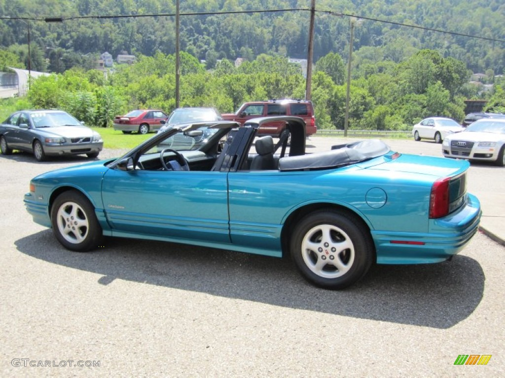 1993 Bright Aqua Blue Metallic Oldsmobile Cutl Supreme Convertible 55658276 Photo 5