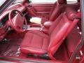 Scarlet Red Interior Photo for 1992 Ford Mustang #55673960