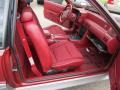 Scarlet Red Interior Photo for 1992 Ford Mustang #55673987