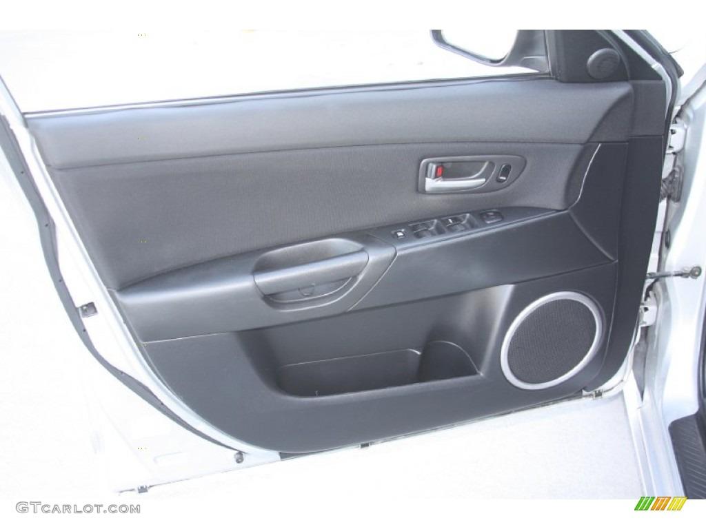 2004 Mazda Mazda3 S Hatchback Black Door Panel Photo 55684332