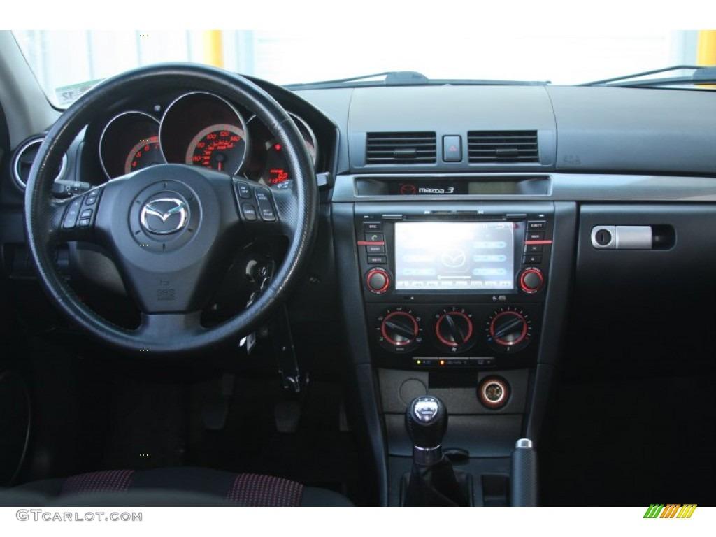 2004 Mazda MAZDA3 S Hatchback Black Dashboard Photo #55684445