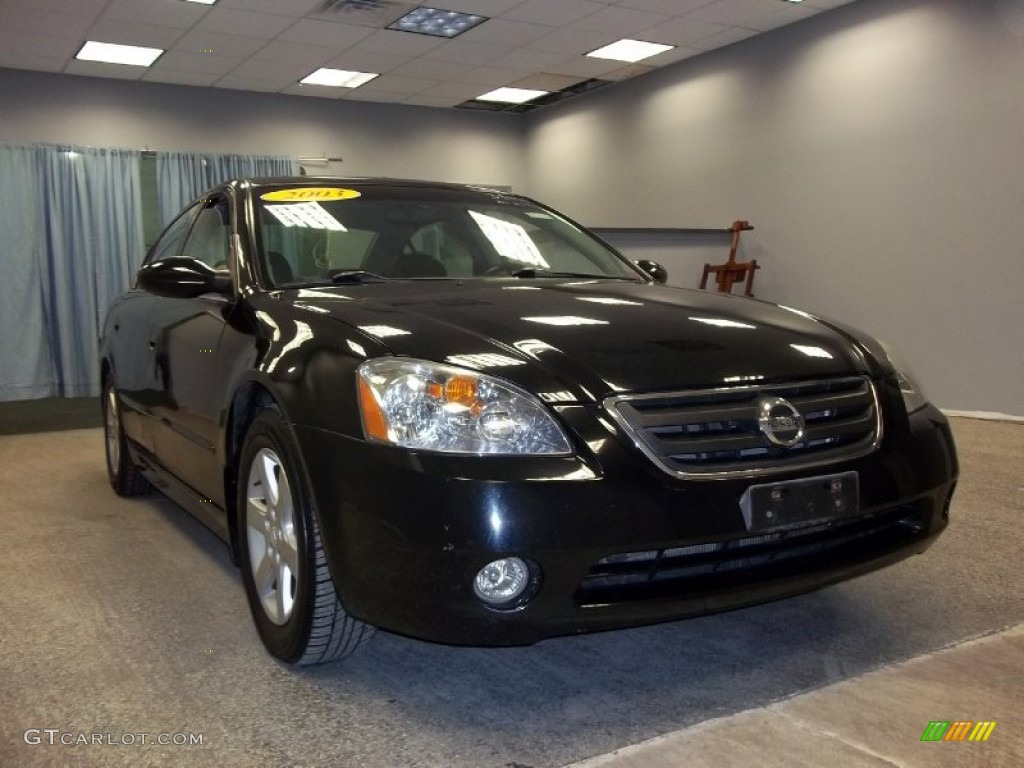 2003 super black nissan altima 2 5 sl 55658385 car color galleries. Black Bedroom Furniture Sets. Home Design Ideas
