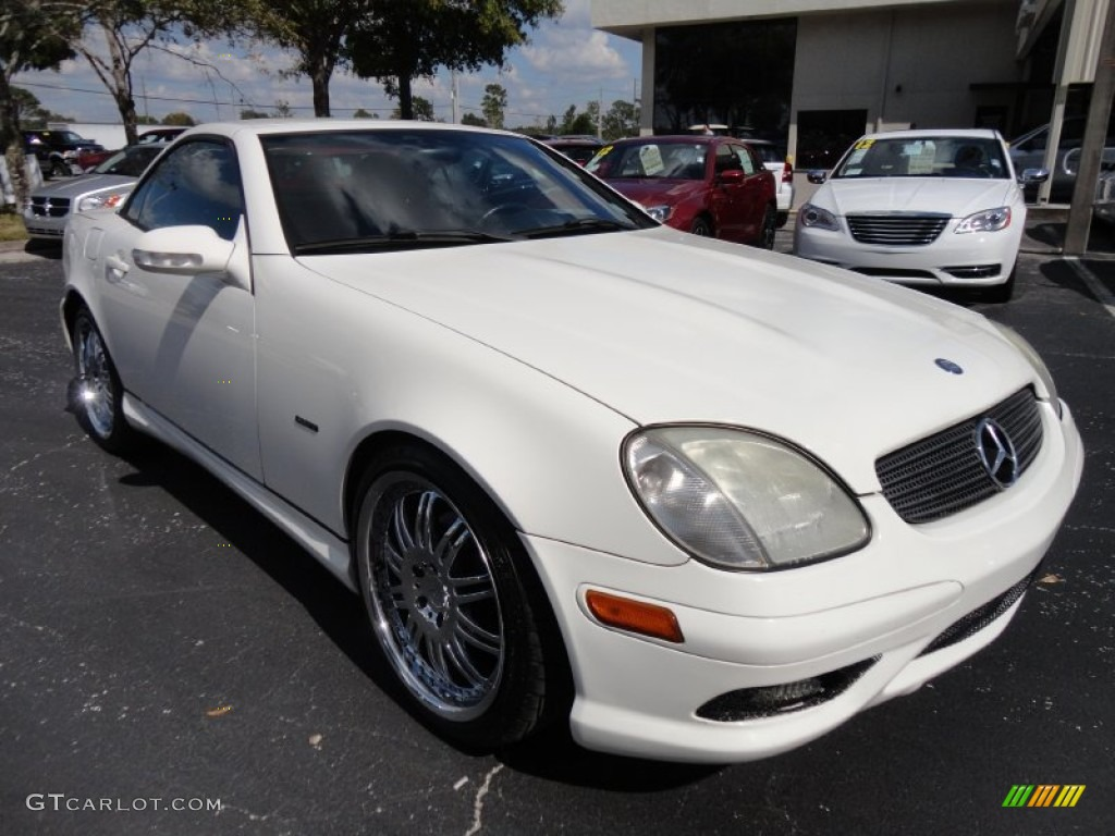 2003 alabaster white mercedes benz slk 230 kompressor. Black Bedroom Furniture Sets. Home Design Ideas