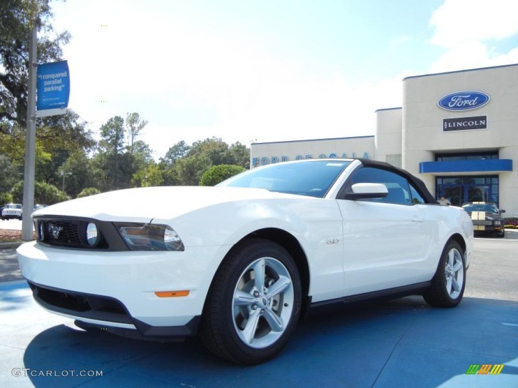 2012 performance white ford mustang gt premium convertible 55709045 gtcarlot com car color