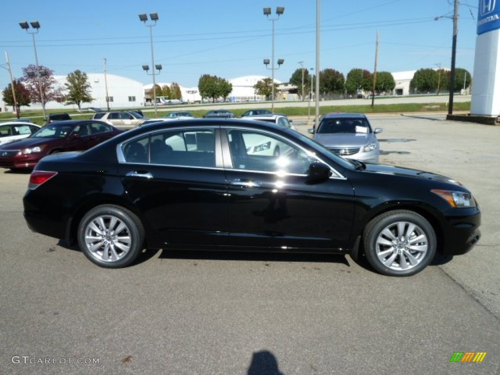 Crystal Black Pearl 2012 Honda Accord Ex L V6 Sedan