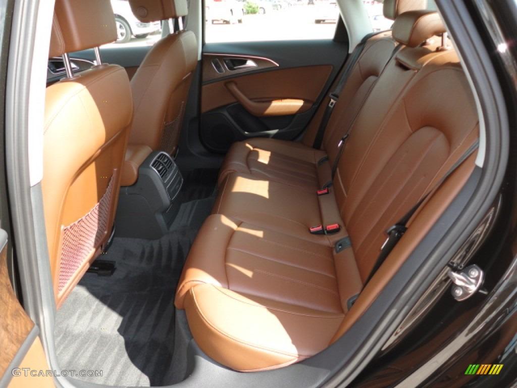 Nougat Brown Interior 2012 Audi A6 30T quattro Sedan Photo
