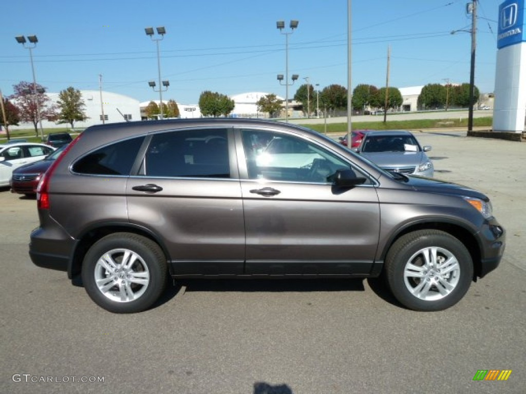 2011 CR-V EX 4WD - Urban Titanium Metallic / Black photo #6