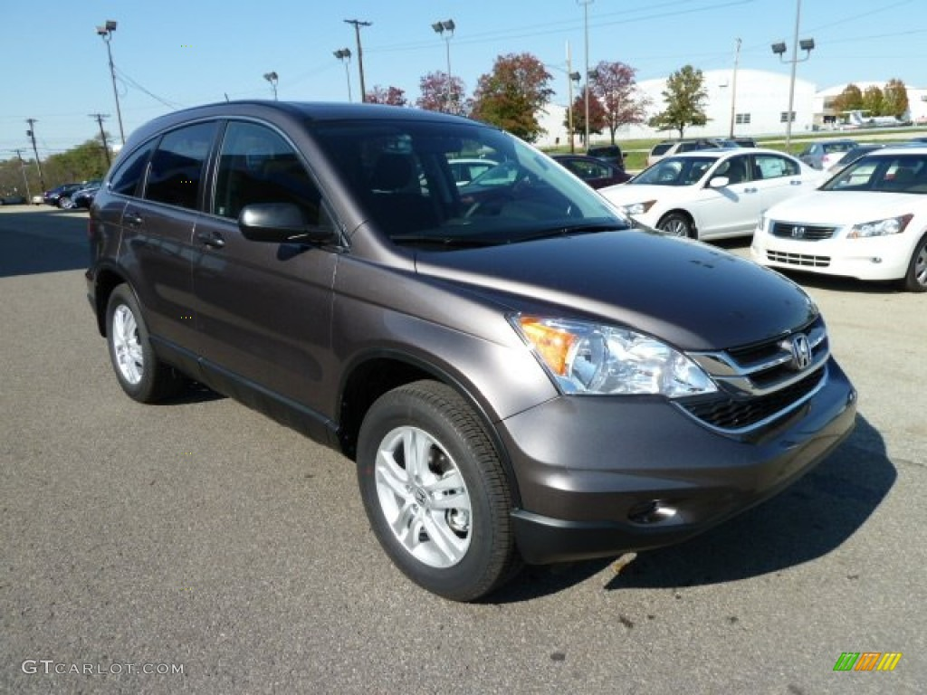 2011 CR-V EX 4WD - Urban Titanium Metallic / Black photo #7