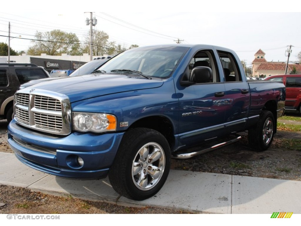 2005 atlantic blue pearl dodge ram 1500 slt daytona quad. Black Bedroom Furniture Sets. Home Design Ideas