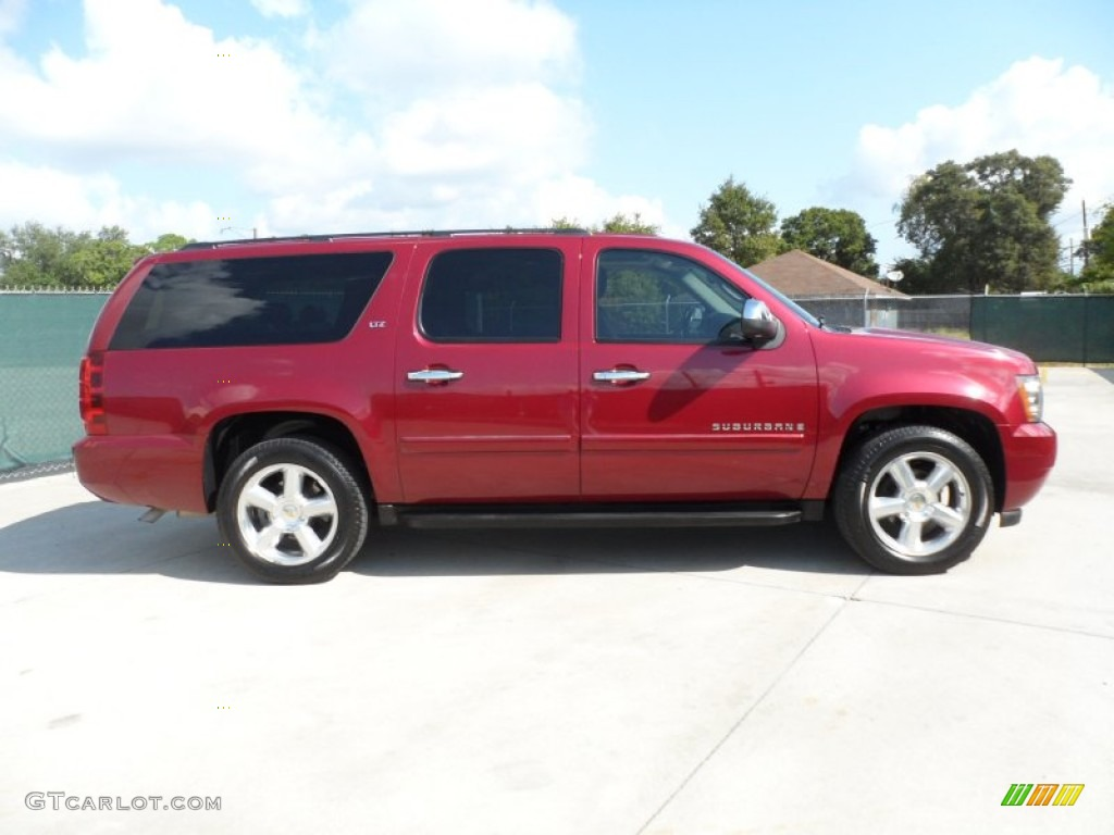 Sport red metallic 2007 chevrolet suburban 1500 ltz exterior photo
