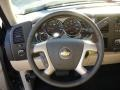 Light Cashmere/Ebony Steering Wheel Photo for 2011 Chevrolet Silverado 1500 #55739232