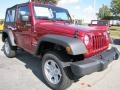 2012 Deep Cherry Red Crystal Pearl Jeep Wrangler Sport 4x4  photo #4