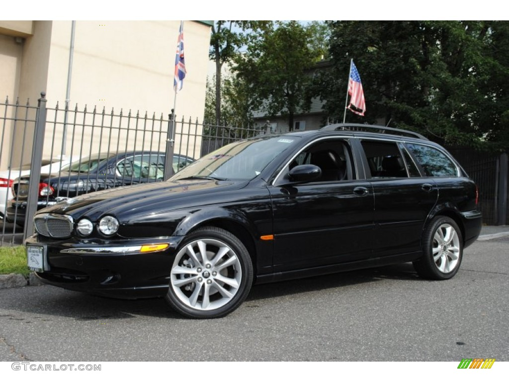 ebony black 2007 jaguar x type 3 0 sport wagon exterior photo 55773590. Black Bedroom Furniture Sets. Home Design Ideas
