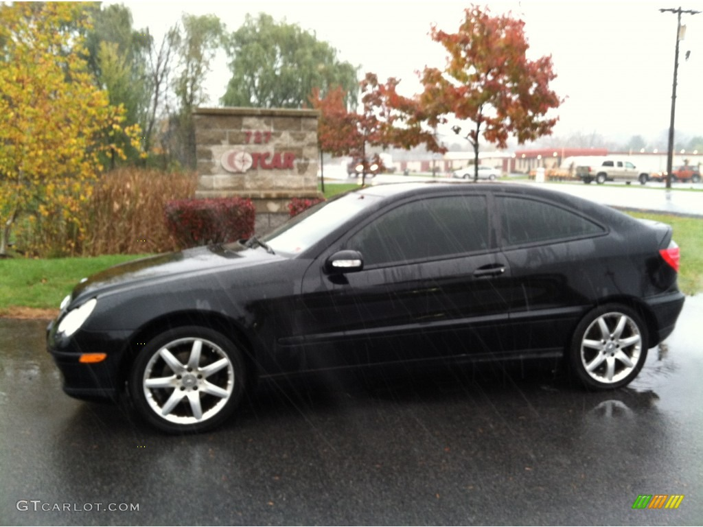 2004 black mercedes benz c 230 kompressor coupe 55756867 car color galleries. Black Bedroom Furniture Sets. Home Design Ideas