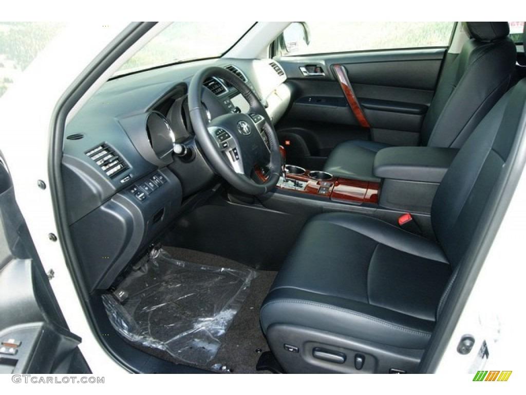 Black Interior 2012 Toyota Highlander Limited 4wd Photo 55783568