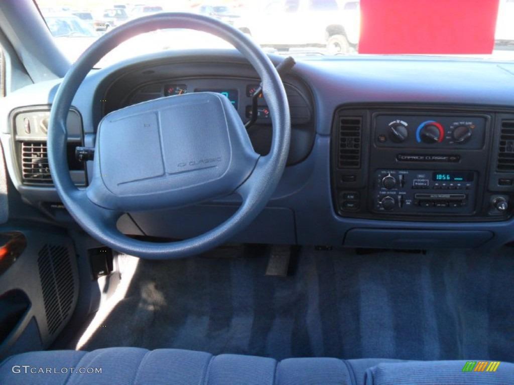 1994 Caprice Sedan - Medium Adriatic Blue Metallic / Gray photo #13
