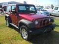 2012 Deep Cherry Red Crystal Pearl Jeep Wrangler Sport S 4x4  photo #5
