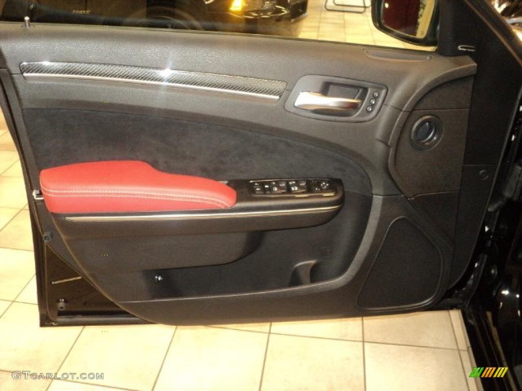 2012 Chrysler 300 Srt8 Black Radar Red Door Panel Photo 55797793