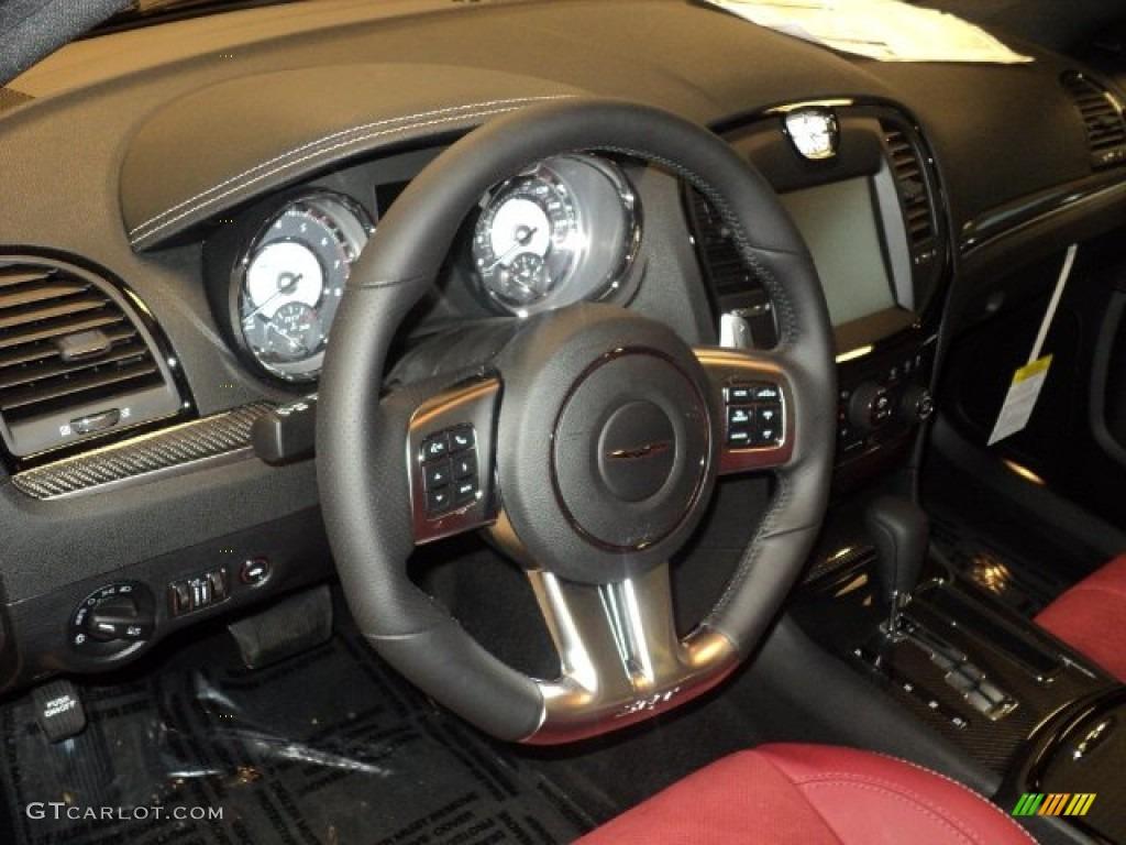 2012 Chrysler 300 Srt8 Black Radar Red Steering Wheel Photo 55797824