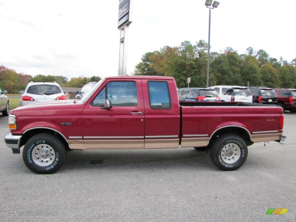 electric currant red pearl 1995 ford f150 xl extended cab 4x4 exterior photo 55806065. Black Bedroom Furniture Sets. Home Design Ideas