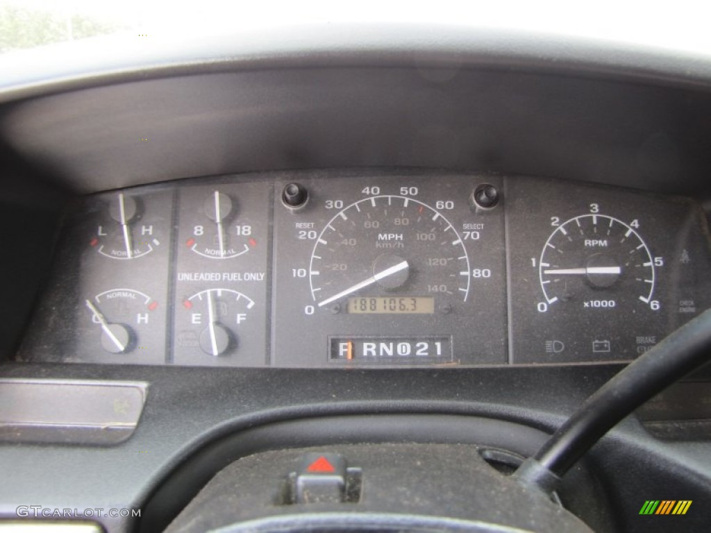 1995 Ford F150 Xl Extended Cab 4x4 Gauges Photo 55806164
