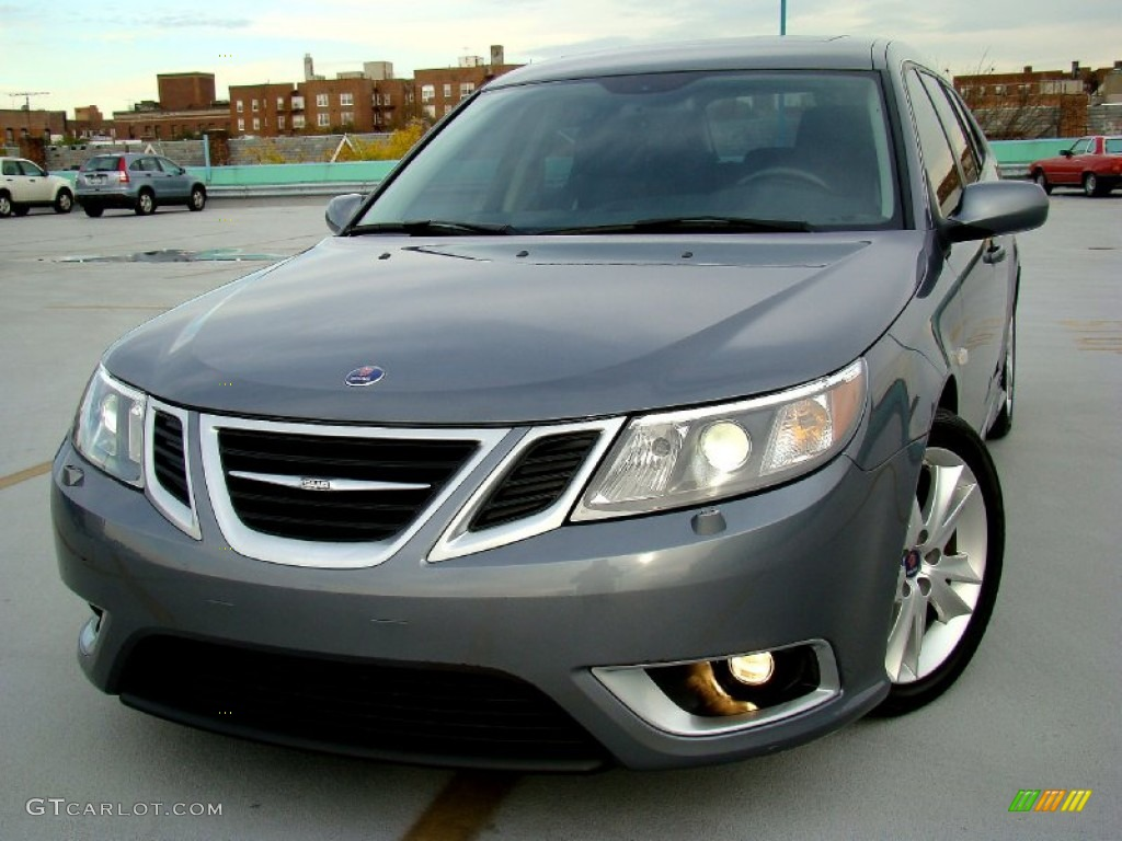 2008 titan gray metallic saab 9 3 aero sportcombi wagon. Black Bedroom Furniture Sets. Home Design Ideas
