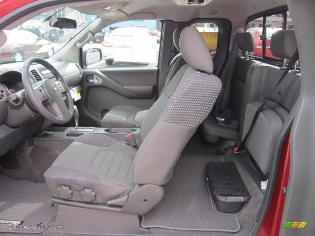graphite interior 2012 nissan frontier sv v6 king cab 4x4. Black Bedroom Furniture Sets. Home Design Ideas